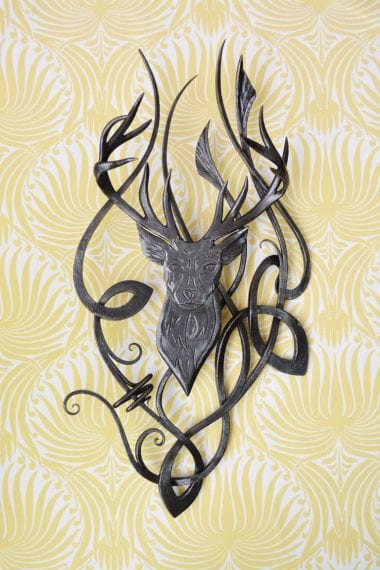 Hand Crafted, Stag, Art, Bespoke, Celtic, Artist, Blacksmith, Metal Art, Crafted