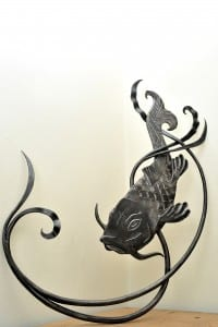 Wedding, Present, Bespoke, Hand Forged, Handmade, Interior Design, Blacksmith, Common Carp, Fish,