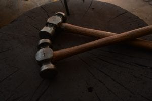 Hand forged hammers, blacksmith, Kyle Swann,