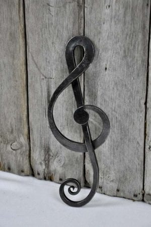 Music, Treble Clef, Bespoke, Artisan, Luxury, Table, Design, Blacksmith, Swann Forge, Wrought Iron, Art, Decor, Metal, Forged, Iron, Interior Design