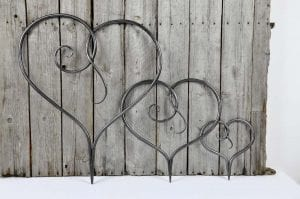 scroll Heart, Heart, Metal Heart, Wall Hanging Heart, Love Heart, Bespoke, Artisan, Luxury, Table, Design, Blacksmith, Swann Forge, Wrought Iron, Art, Decor, Metal, Forged, Iron, Interior Design