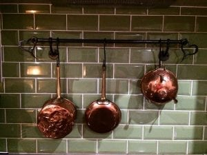Pan Rack, Copper Pans, Kitchen, Home Interior, Design, Style. Heart
