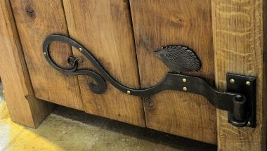 Country Kitchen, Bespoke Kitchen, Luxury Homes, Oak Kitchen, Custom Kitchen, Ironwork, Wrought Iron, Wrought Iron Hinges, Hare, Hedgehog, Squirrel, Geese