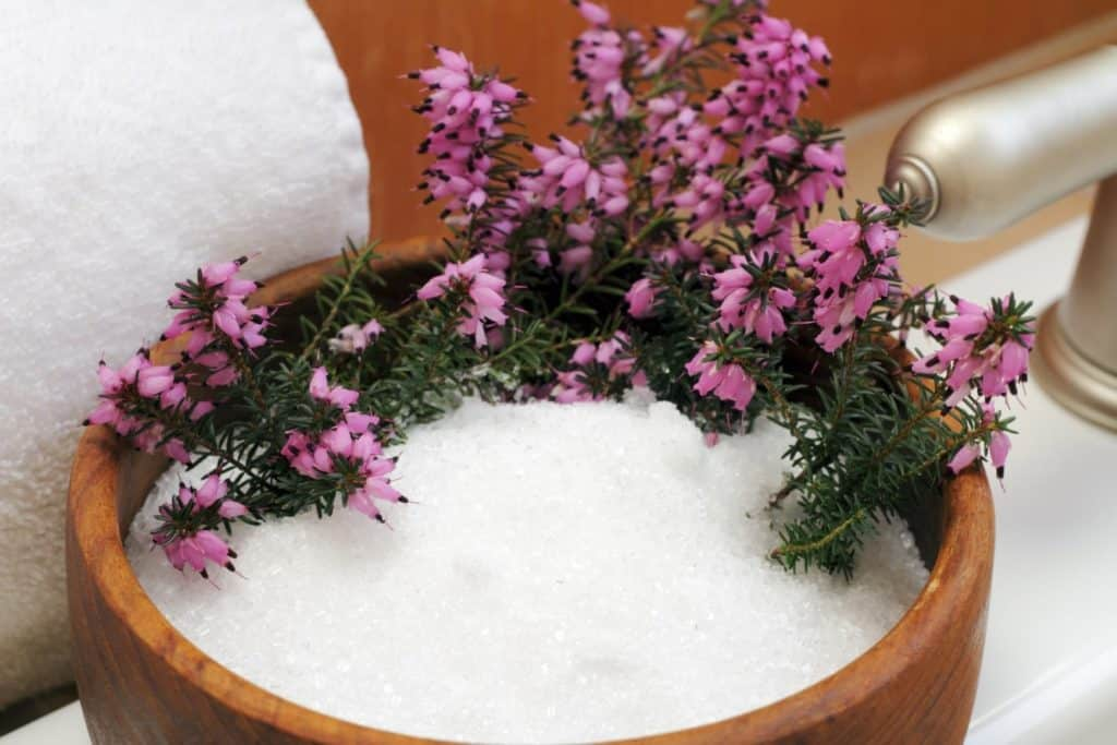 Relax with a hot Epsom salts bath