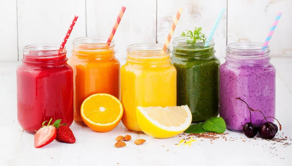 A weeks worth of Super Supper Smoothies for gut health